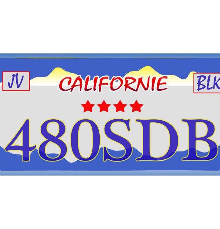 Plaque US californie