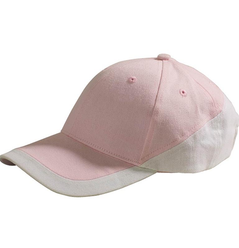 Casquette brodée rose et blanche