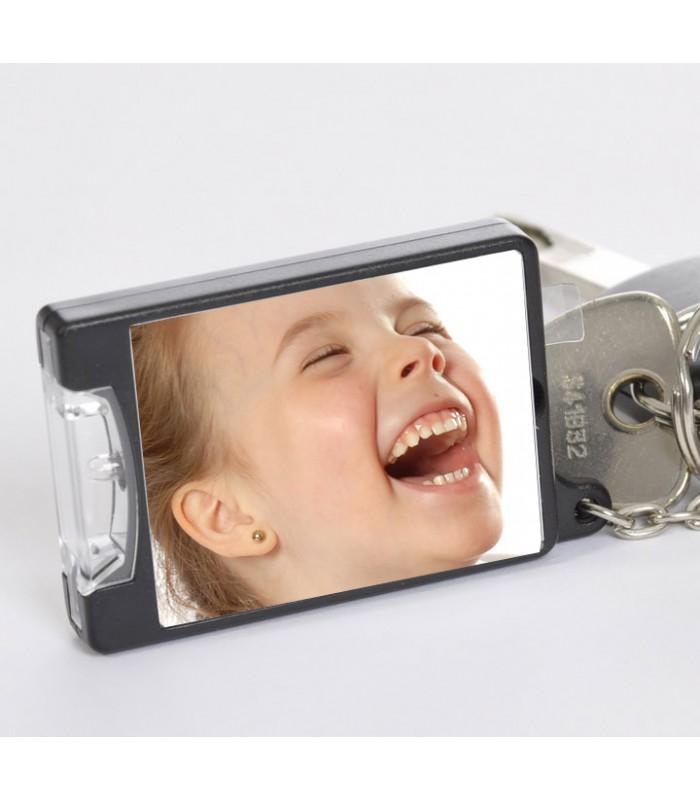 votre photo insérée dans un porte clé lumineux