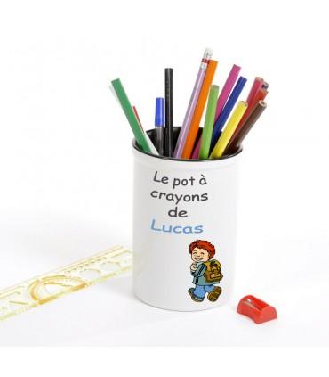 pot à crayons personnalisé avec une photo