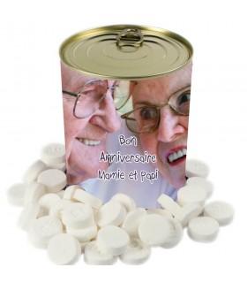 Boîte de bonbons personnalisée en cadeau