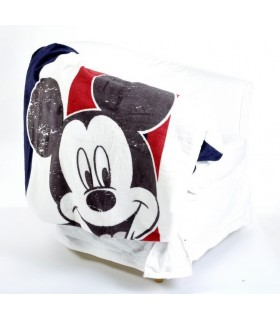 broderie sur plaid mickey, plaid brodé