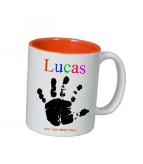 mug avec empreinte de la main, cadeau naissance
