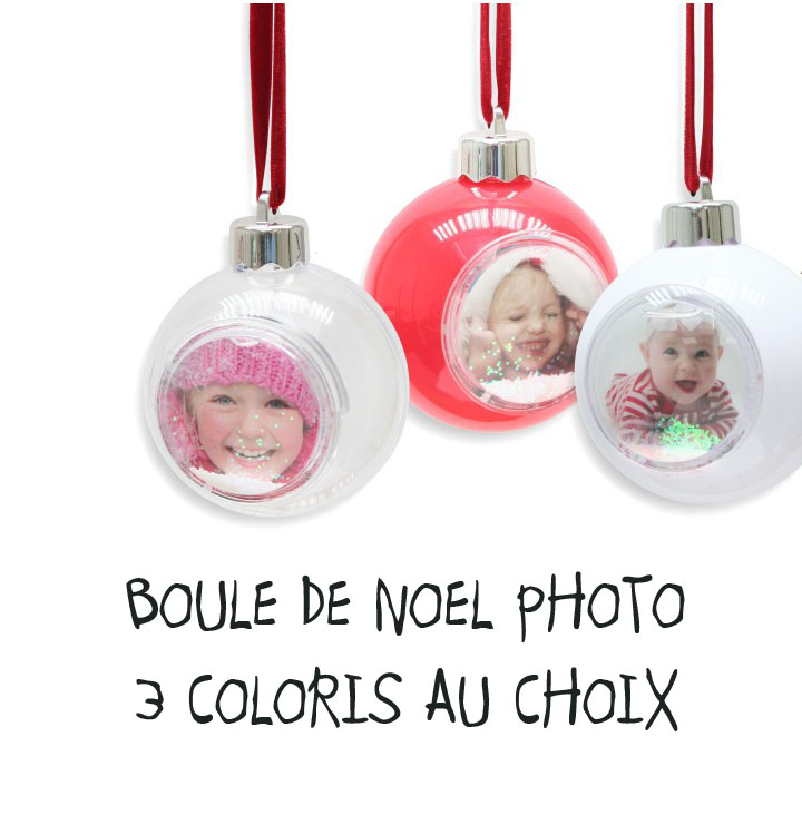boule de noel personnalis e avec photo boule pour le sapin de noel. Black Bedroom Furniture Sets. Home Design Ideas