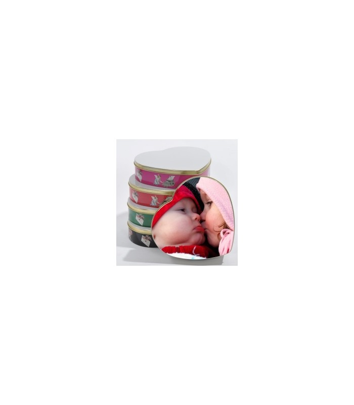 boite de rangement forme coeur bonbons et gateaux personnalisée