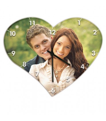 horloge en forme de coeur personnalisée photo