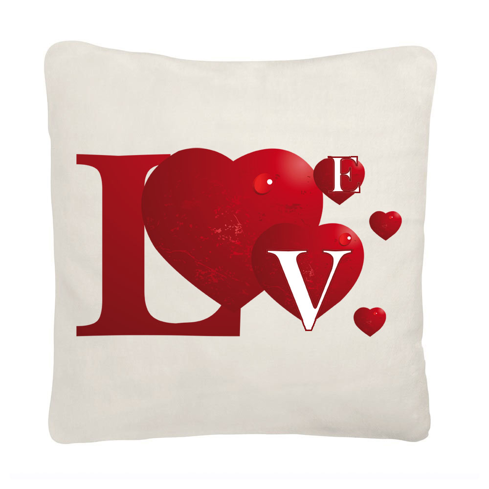 coussin avec coeur pour amoureux d coration maison avec coussins. Black Bedroom Furniture Sets. Home Design Ideas