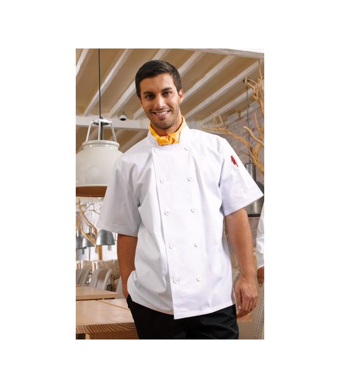 veste blanche cuisinier brodée
