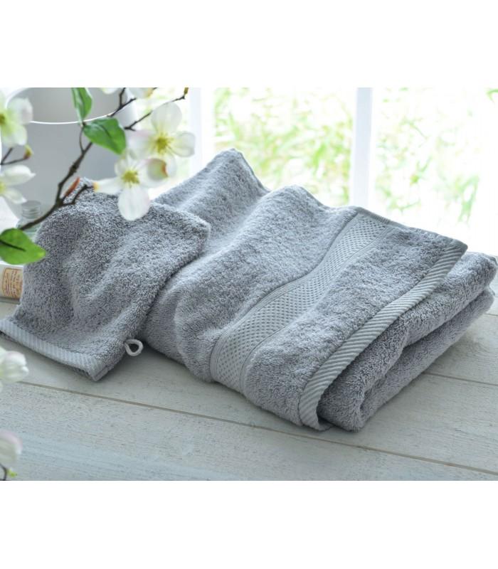 serviette gris perle brod e la main belle broderie pas. Black Bedroom Furniture Sets. Home Design Ideas
