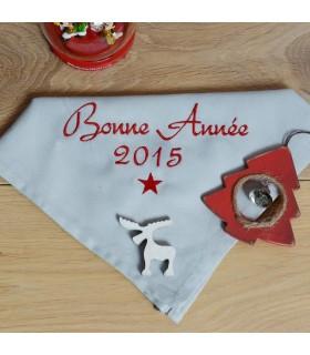 serviette de table avec broderie pour nouvel an