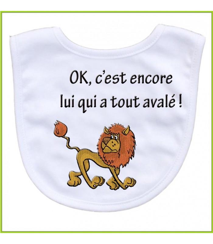 Bavoir rigolo lion
