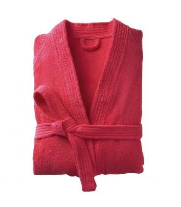 broderie sur peignoircol kimono rouge2