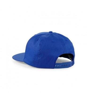 Casquette rappeur brodée bleue
