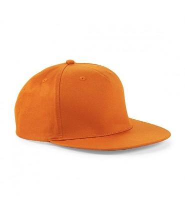 Casquette rappeur brodée orange