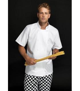 Tablier de cuisinier chef manches courtes