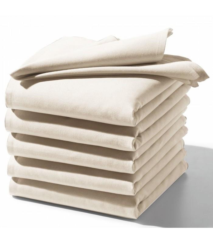 serviette brodee blanc ecru