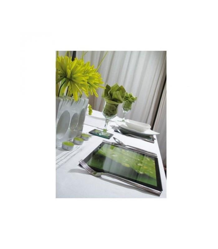 set de table en verre sous main en verre personnalis. Black Bedroom Furniture Sets. Home Design Ideas