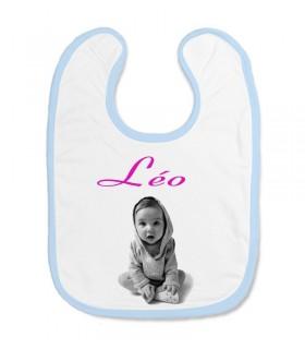 Bavoir personnalisé photo bebe