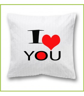 coussin design I love you