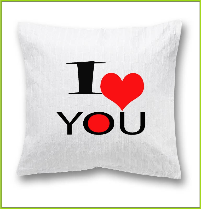 coussin I love you design