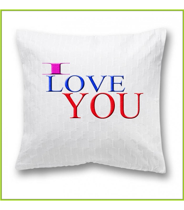 coussin I love you 2