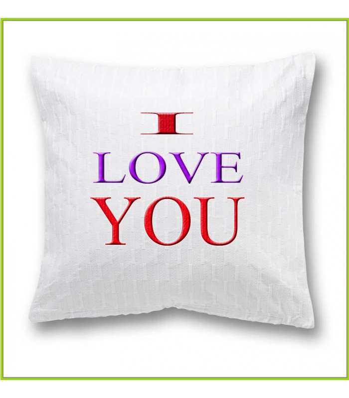 coussin I love you