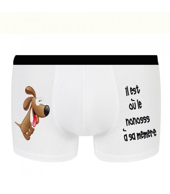 Boxer rigolo petit chien marron