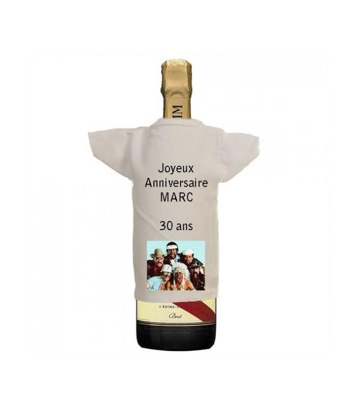 Tee shirt photo bouteille personnalisé