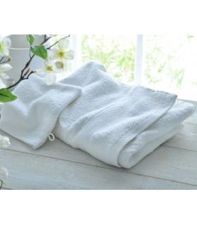 broderie sur drap de bain haute qualité couleur blanc