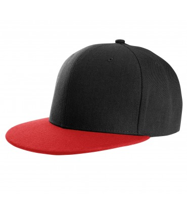 Casquette snapback K-UP style rappeur brodée noire bec rouge
