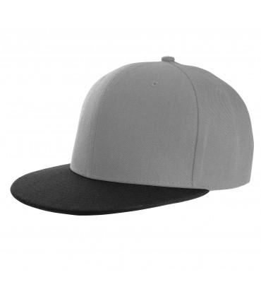 Casquette snapback K-UP style rappeur brodée grise bec noir