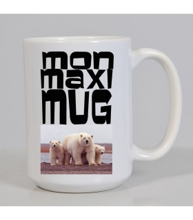 Mug maxi photo personnalisé