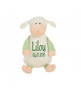 Peluche mouton brodé