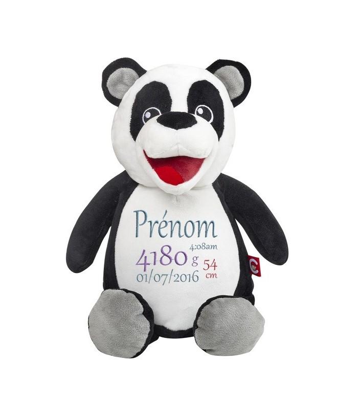 Panda peluche brodée
