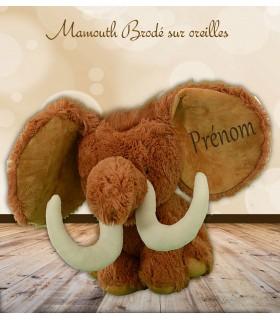 Peluche mammouth brodé