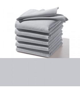 Serviette grise table brodée
