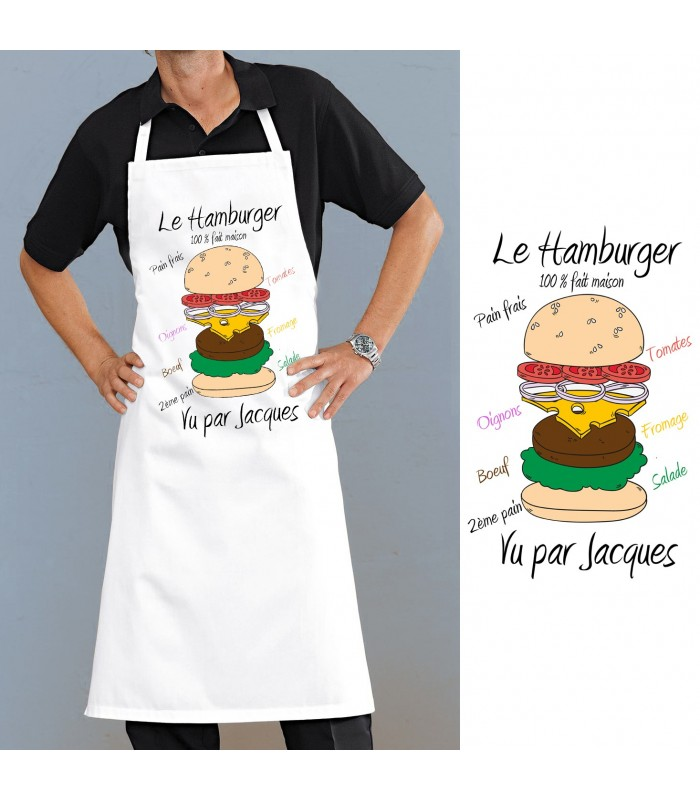 Tablier cuisine le hamburger