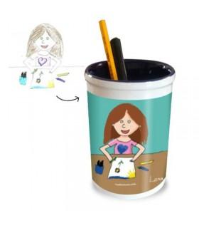 Le pot crayons dessin enfant