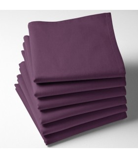 Serviette de table violet brodée