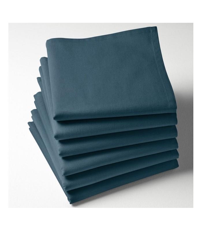 Serviette de table à broder bleu vert prusse