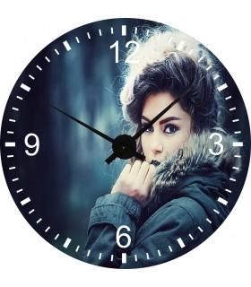 Horloge en plexiglas avec photo