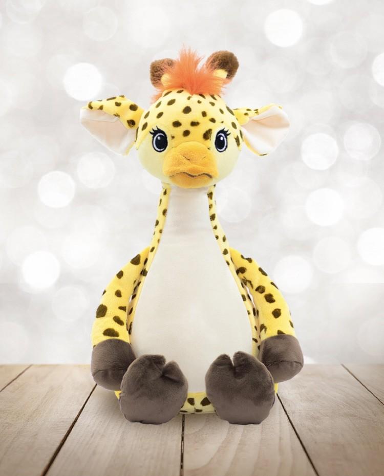 Girafe peluche brodée