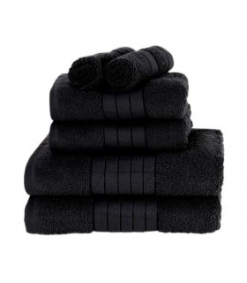 Serviette éponge coton noir