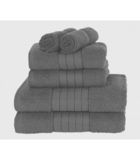 Serviette éponge coton gris fonce