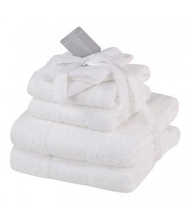 Serviette éponge coton blanc