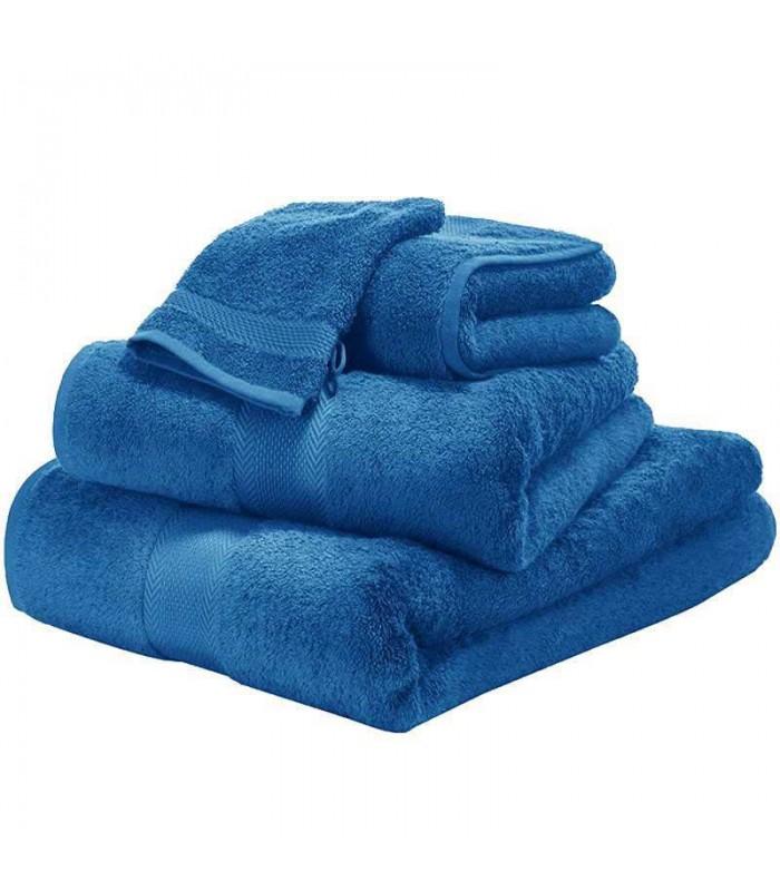 Serviette de bain brodée bleue marine