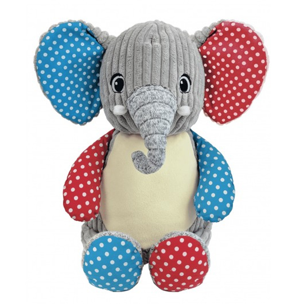Elephant coloré brodé