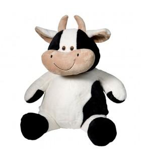 Vache peluche brodée
