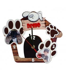Horloge personnalisée motif niche chien