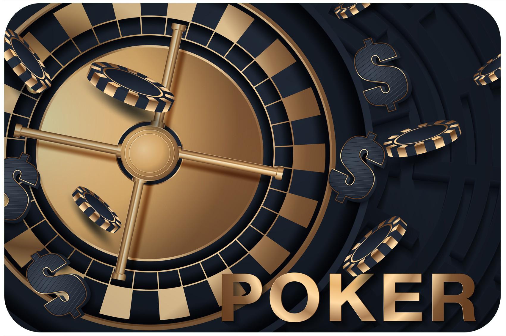 Tapis de poker personnalise